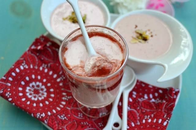 Strawberry Shrikhand