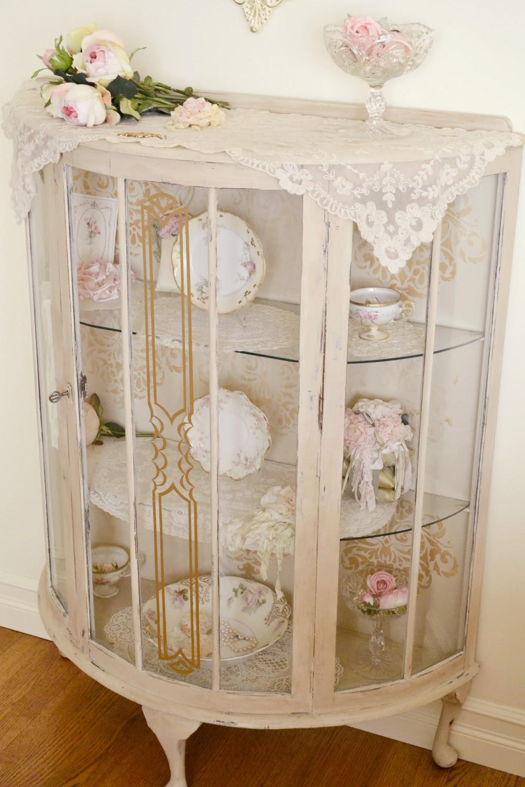 jennelise antique china cabinet. Black Bedroom Furniture Sets. Home Design Ideas