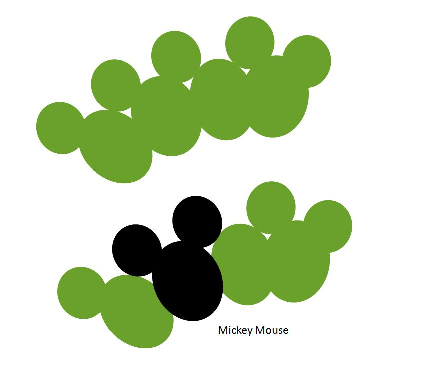 Cabezas de Mickey Mouse en las alas de Pontia daplidice