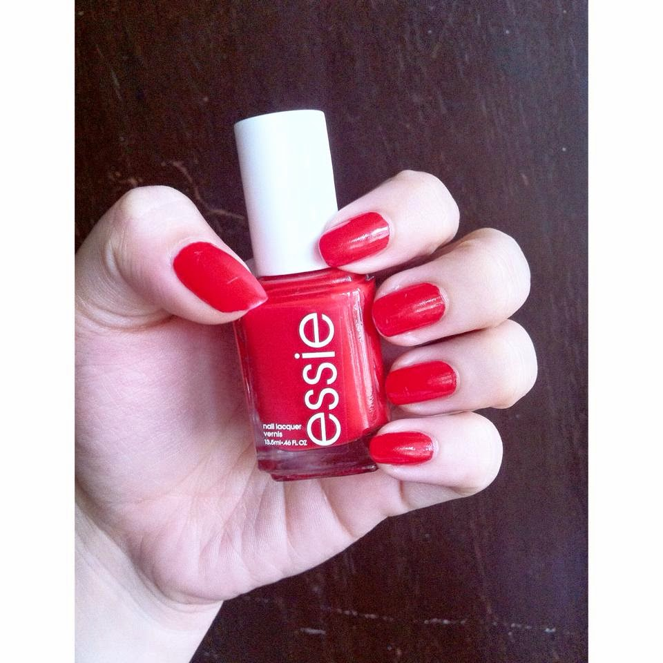 Essie Russian Roulette and Essence Quick Dry Top Coat (Review ...