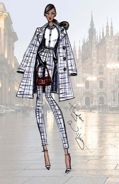 Fashion Illustration MFW: 'Milan Moda' by Hayden Williams