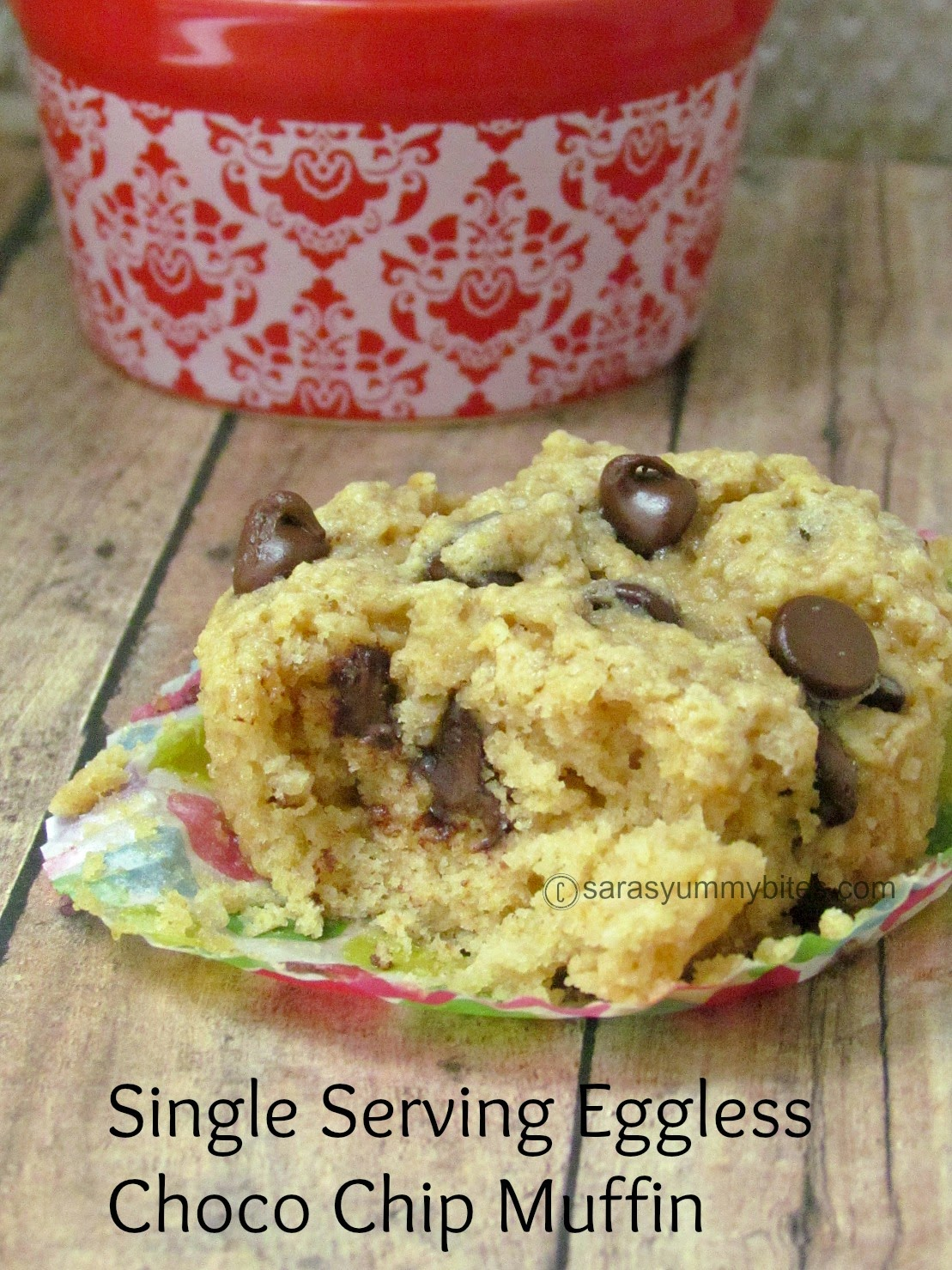 Single Serving Eggless Choco Chip Muffin