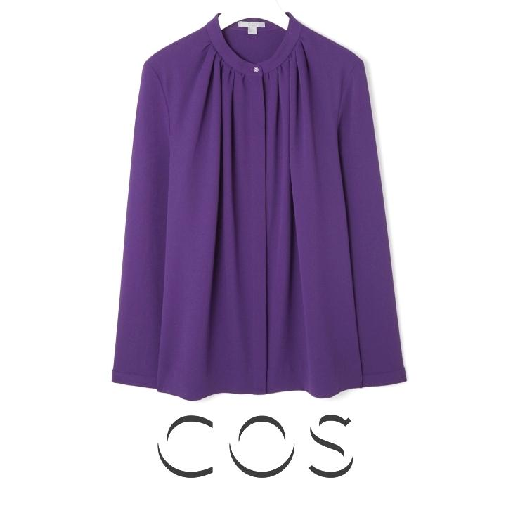 Queen Maxima - COS Gathered Neck Shirt