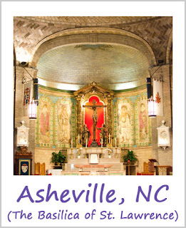 Tickled by the Creative Bug - Asheville, NC (Basilica of St. Lawrence): Link to blog post