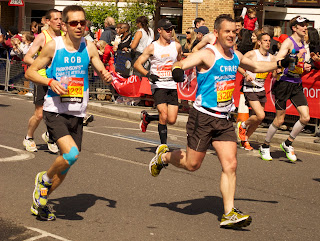 Rob and Chris, 2 of our amazing London Marathon runners