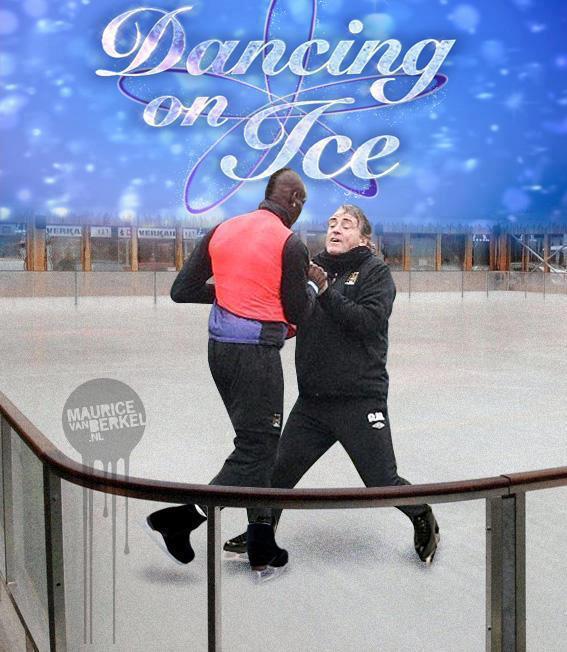 Balotelli y Mancini... bailando por un sueño