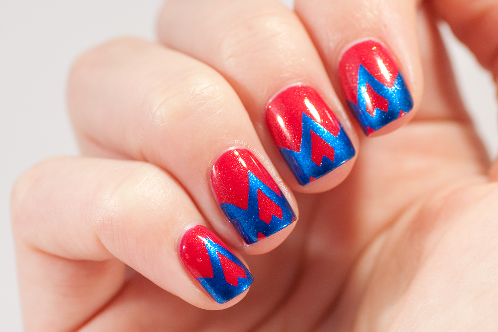 Bold funky french nails - May contain traces of polish