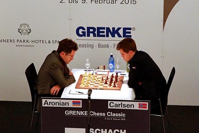 Aronian - Carlsen en el Grenke Chess Classic 2015