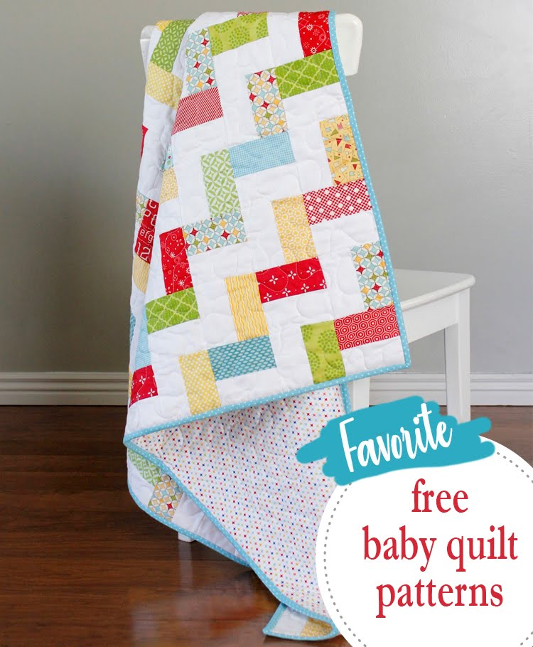 A Bright Corner 40 Favorite Free Baby Quilt Patterns Custom Baby Quilt Pattern