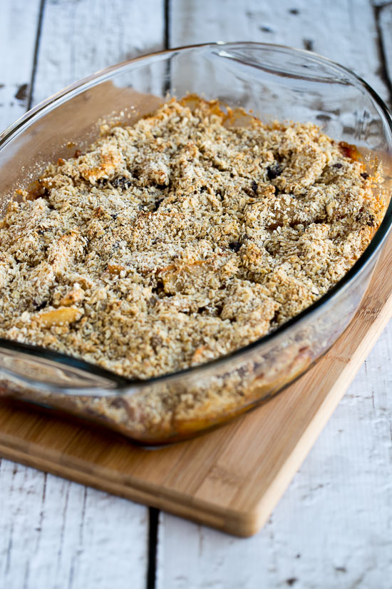 Low-Sugar and Gluten-Free Cranberry Apple Crumble [found on KalynsKitchen.com]