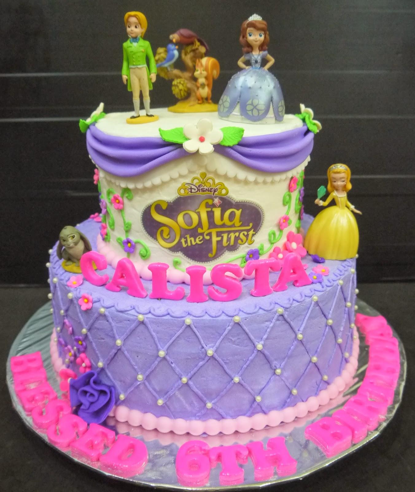 Cupcake Divinity Calistas Sofia The First Cake