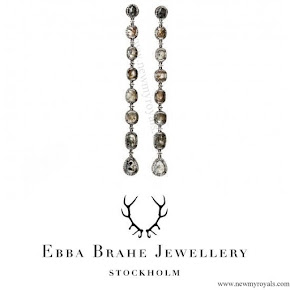 Princess Sofia Style EBBA BRAHE Sliced Diamond Earrings