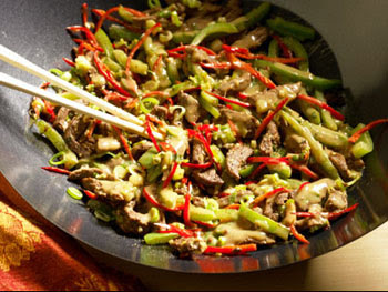 La veu cardada la receta de los viernes wok de ternera - Comodas orientales ...