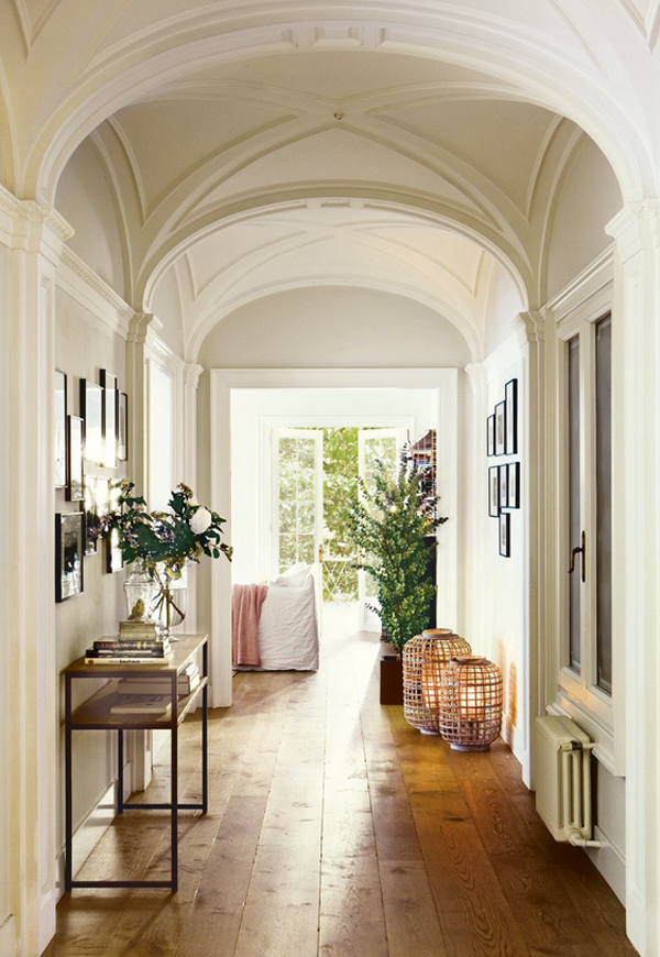 hardwood floors in entryway