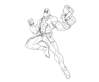 #10 Deadpool Coloring Page
