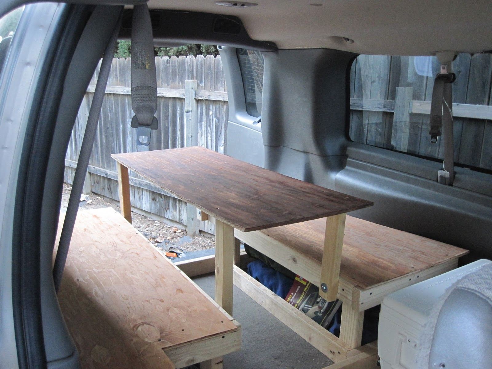 Building The Bed And Table From A Chevy Express To A Diy