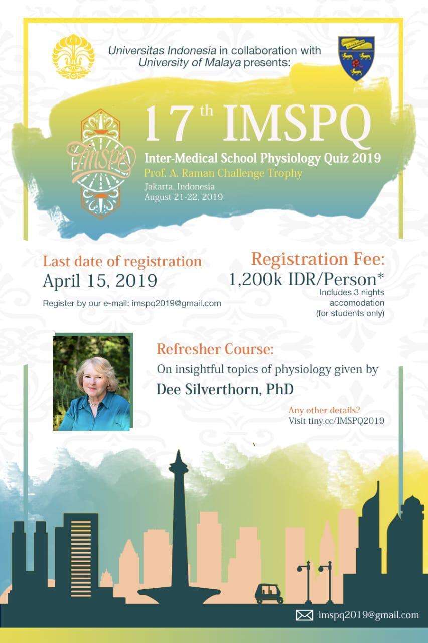 17th IMSPQ - Universitas Indonesia, Jakarta, Indonesia