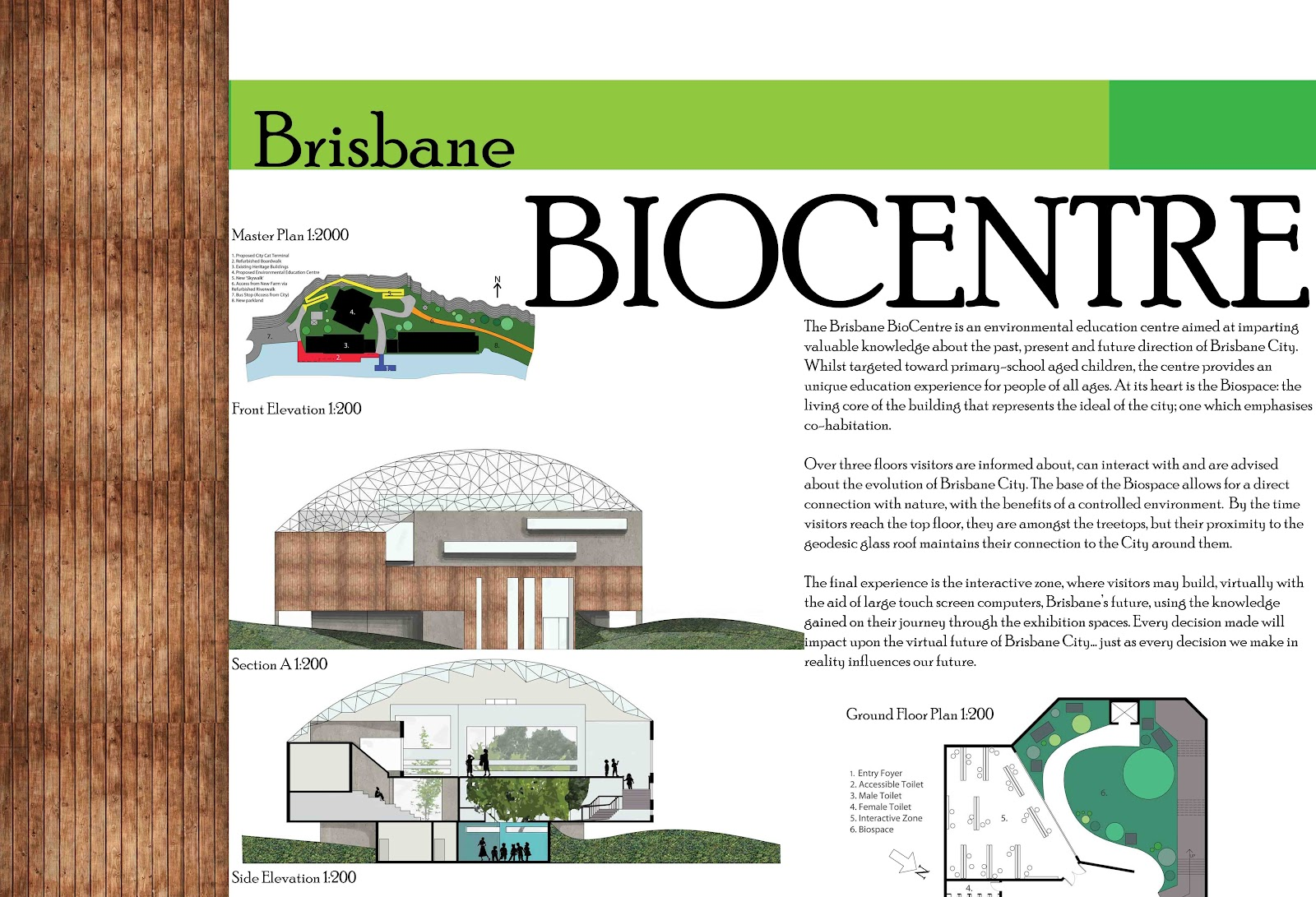 Architectural design 5 final summary panel for Architectural concept board examples