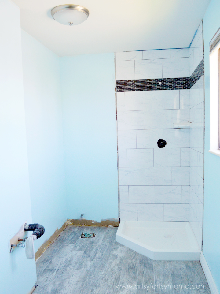Master Bathroom Renovation Reveal at artsyfartsymama.com