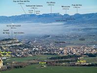 Zoom cap a la zona de Tona i el Cabrerès