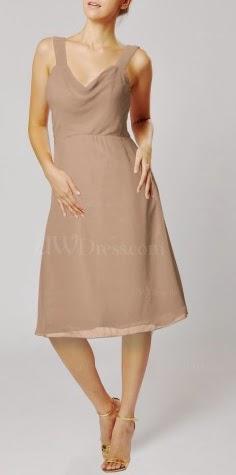Vestidos Cortos, Dama de Honor, Color Avellana