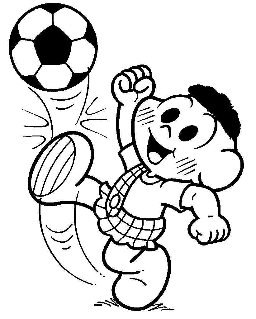 imprimir desenhos para colorir   turma da m nica na copa do mundo