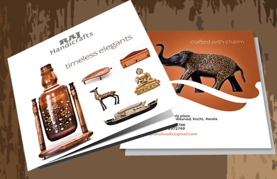 Brochure Design For Handicraft Products In Kerala The Web Designers