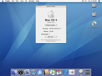 Apple Mac OSX Tiger 10.4 for Mac (1 dvd)