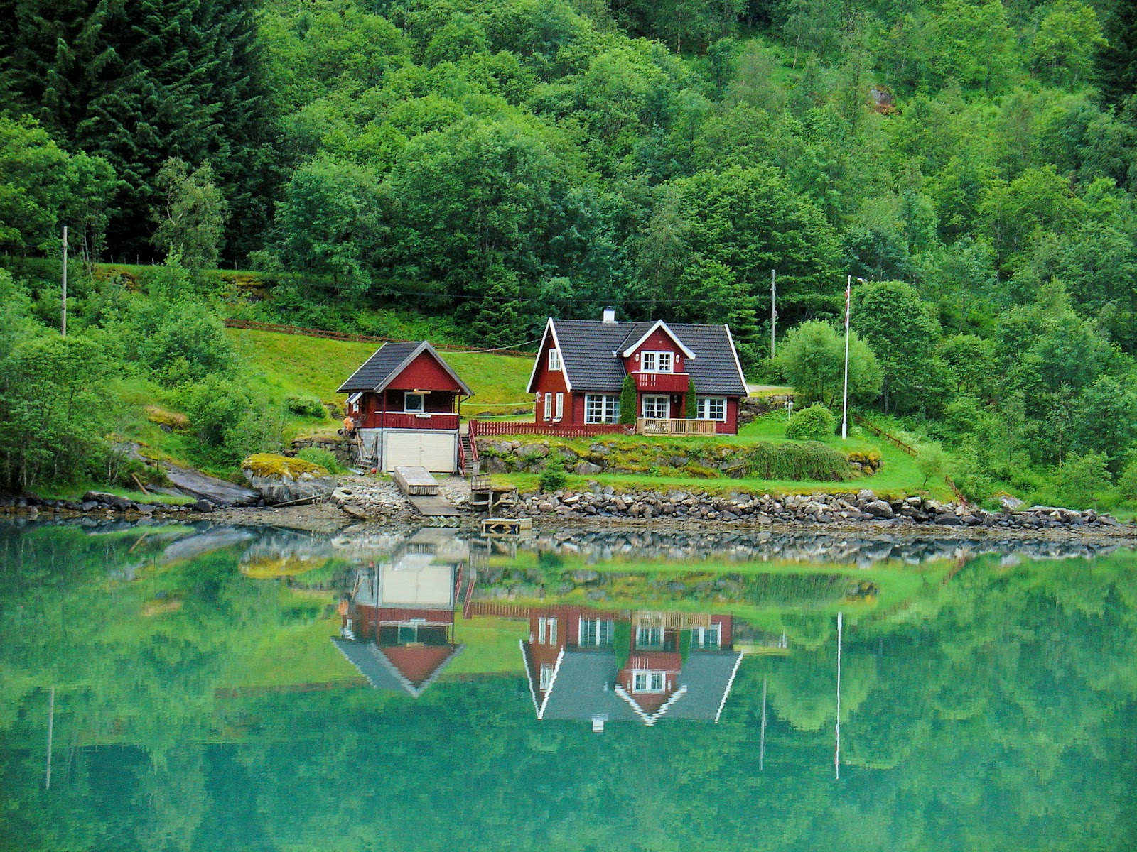 Enchanting Fjærland, Norway. All photography is the property of EuroTravelogue™. Unauthorized use is prohibited.