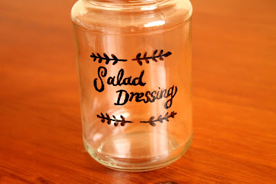Salad dressing jar