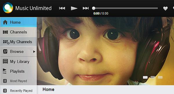 Novo serviço de musica da Sony
