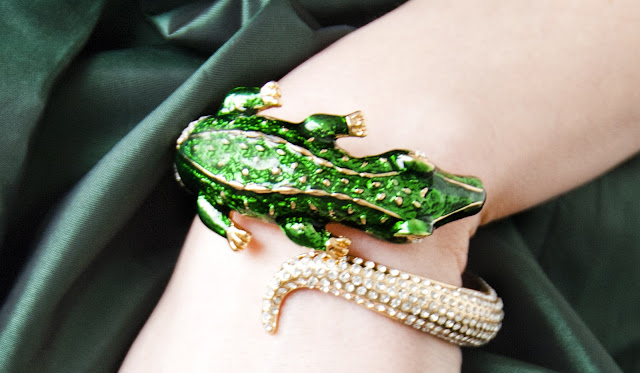 Anna Dello Russo, crocodile, bangle, H&amp;M