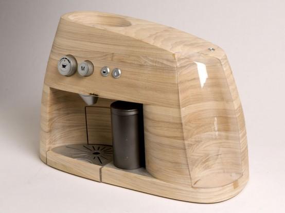 Coffee Maker Design Project : Creative Espresso Maker Norwegian Wooden Materials Best-Design-Idea