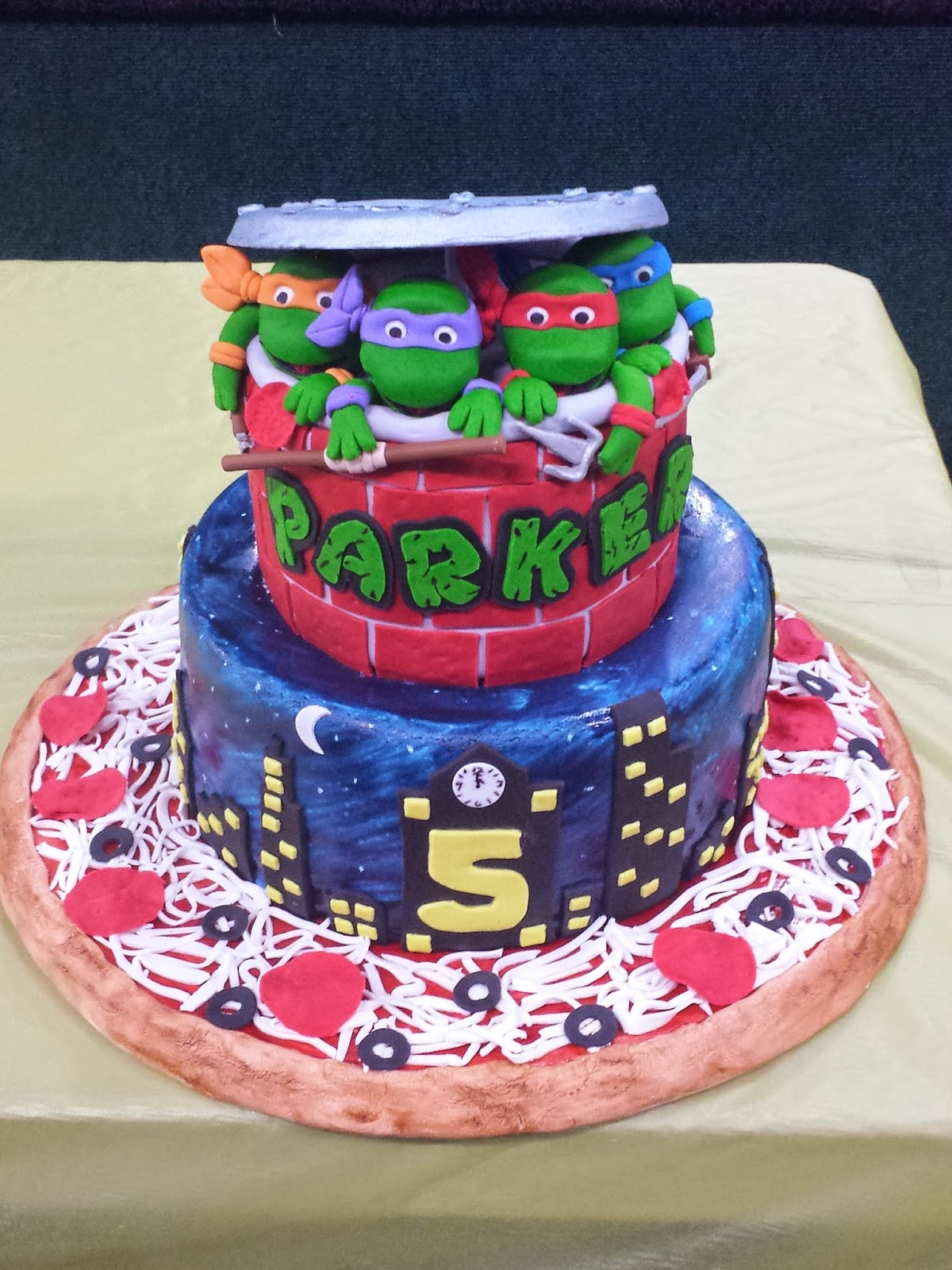 Js Cakes Teenage Mutant Ninja Turtles Birthday Cake