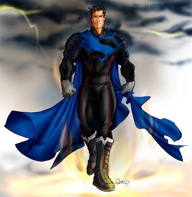Blue cape superman