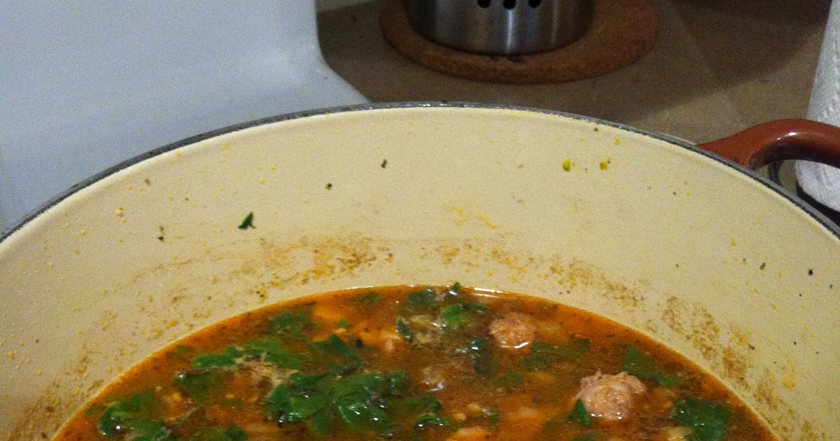 In the Kitchen with Reebs: Sausage, Potato and Swiss Chard Soup