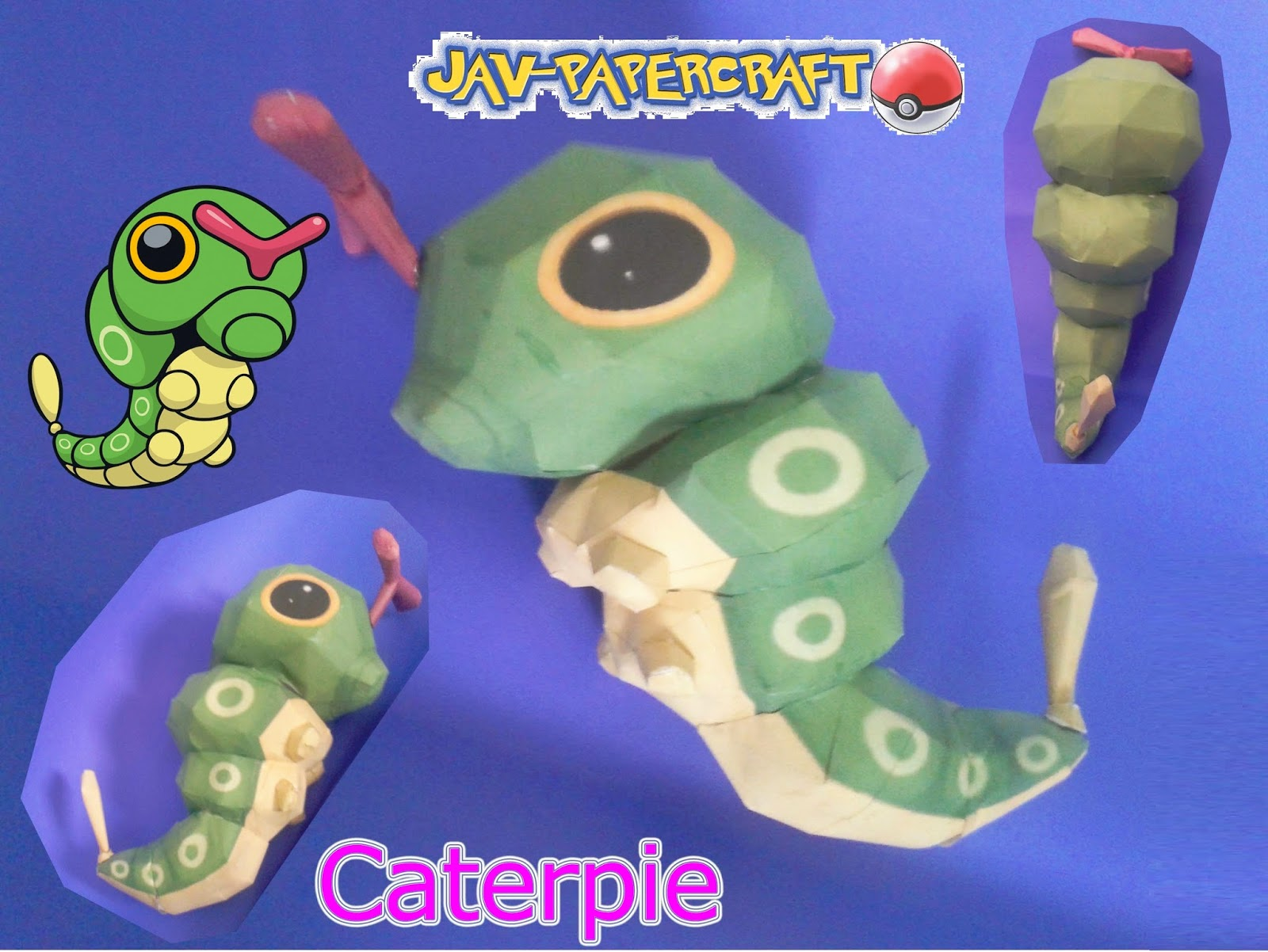 Pokemon Caterpie Paper Model