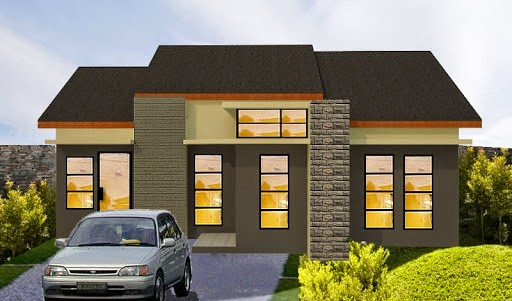 gambar desain dan denah rumah minimalis modern type 60