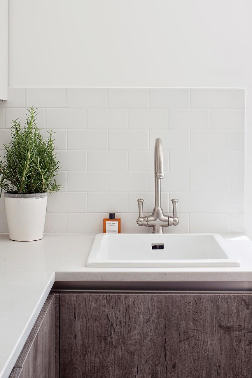White Metro tiles in the Kitchen   Norse White Design Blog