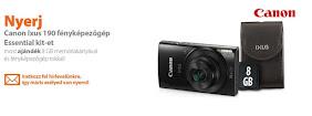 Nyerj Canon Ixus 190 fényképezőgép Essential kit-et!
