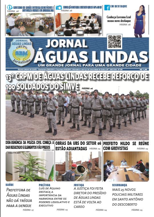 Edição 209 do Jornal Águas Lindas