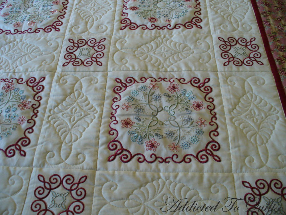 Addicted To Quilts: Floral Embroidery