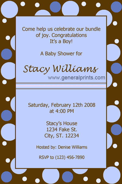 Baby Shower invitaciones niño