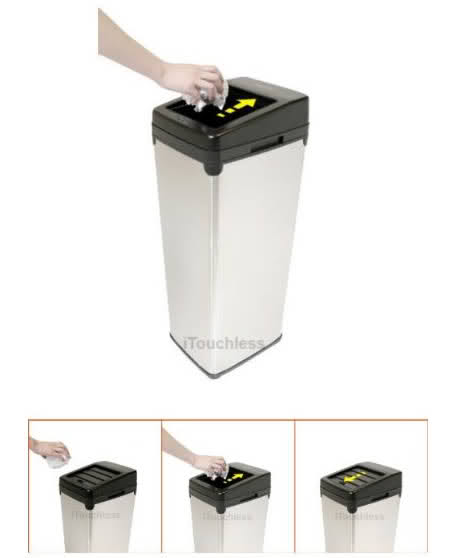 20 Tempat Sampah Terunik di Dunia: Touchless Automatic Trash Can