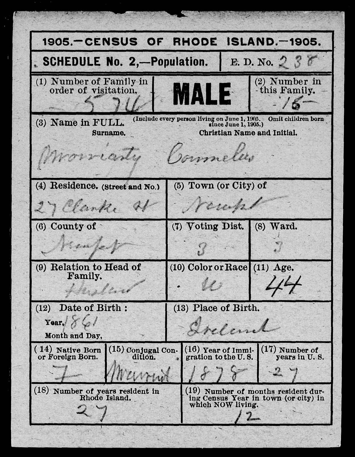 My family story july 2013 cons parents were born in ireland he is a naturalized citizen i cant make out what it says in box 23 re voter is it property or proprietor 1betcityfo Choice Image