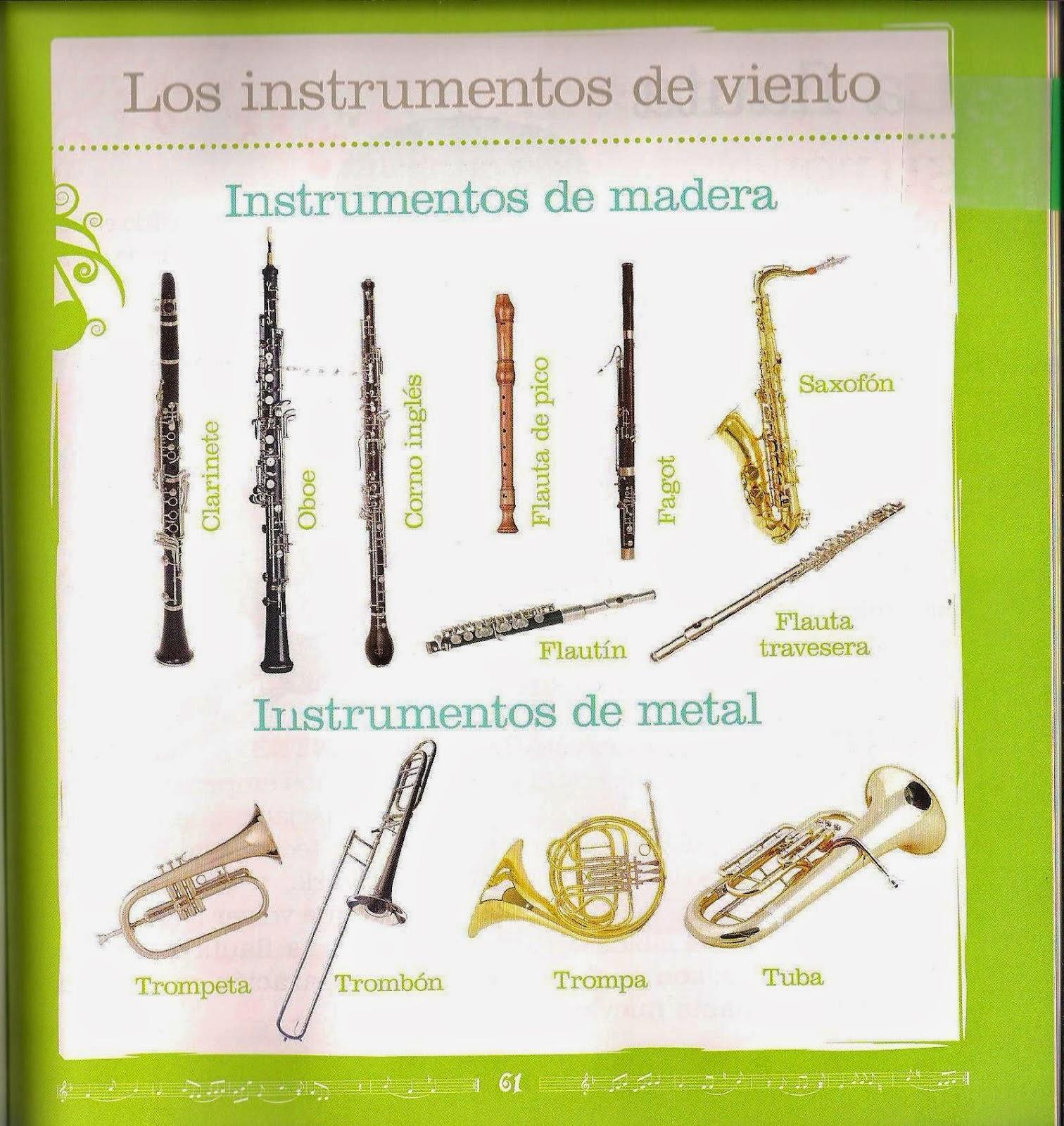 El rinc n de m sica aprendemos los instrumentos musicales for La beta de la madera