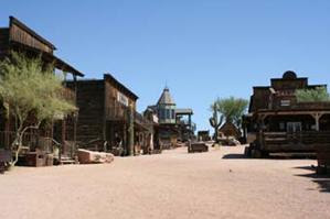 Goldfield Ghost Town gateway to The Superstition Mountains near-Apache Junction, Arizona