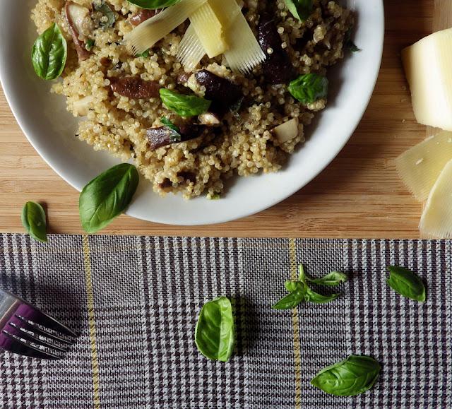 bezglutenowe risotto z quinoy