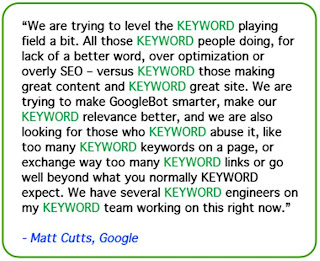 Matt Cutts Google penalties over optimization