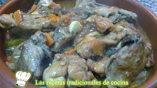Receta de conejo salsa de Oporto